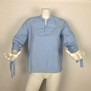 Madewell Shirt blouse stripes 3/4 Sleeves Top Blue